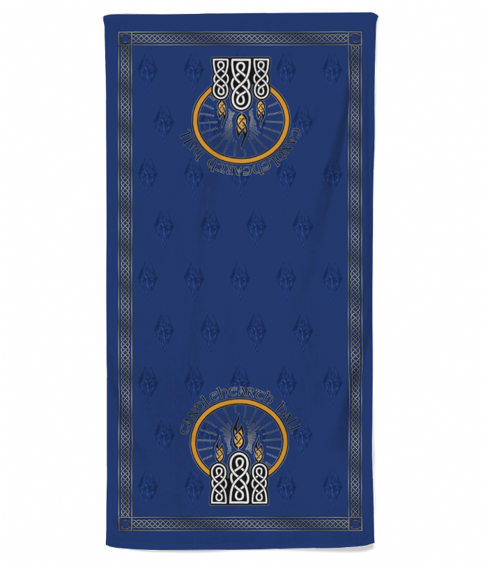 Candlehearth Hall Inn Fictional Hotel Beach Towel Inspired by Skyrim Elder Scrolls